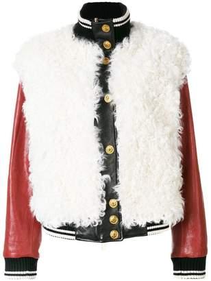 Fausto Puglisi leather bomber jacket