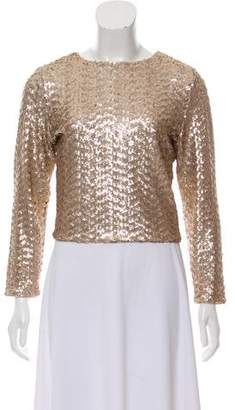 Alice + Olivia Sequined Crop Top