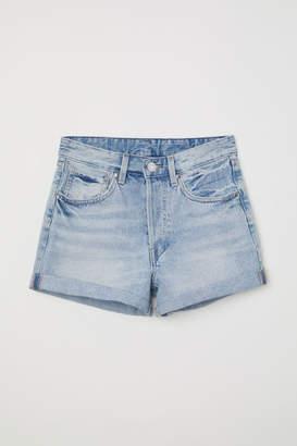 H&M Mom Fit Denim Shorts - Blue