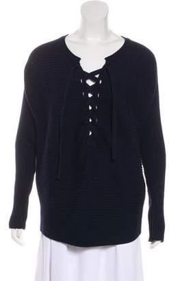 Designers Remix Charlotte Eskildsen Lace-Up Knit Sweater