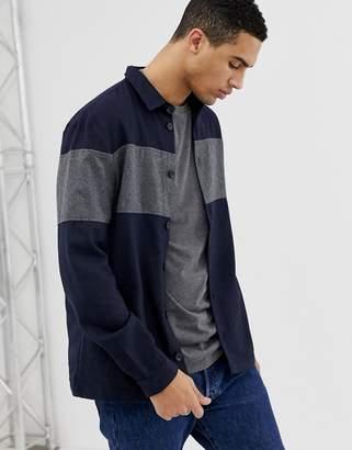 Hymn Horizontal Stripe Overshirt With Pockets