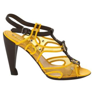 Celine Yellow Leather Sandals