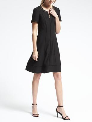 Embroidered-Trim Fit-and-Flare Dress $118 thestylecure.com