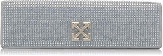 Off-White Off White C/O Virgil Abloh Jitney 2.2 Crystal Embellished Leather Clutch