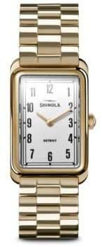 Shinola The Muldowney PVD Gold Bracelet Watch