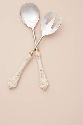 Anthropologie Goldenrod Serving Utensils, Set of 2