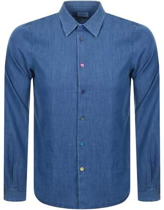 Paul Smith Long Sleeved Denim Shirt Blue