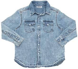 Molo Washed Light Cotton Denim Shirt