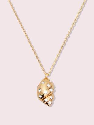 Kate Spade Under The Sea Mini Pave Shell Pendant, Clear/Gold
