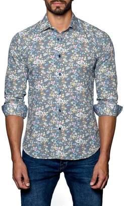 Jared Lang Woven Trim Fit Shirt