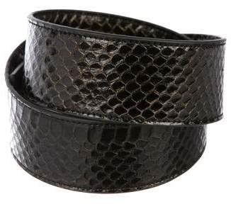 Halston Metallic Snakeskin Waist Belt