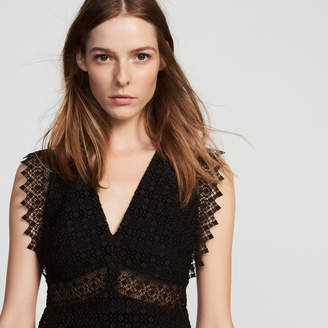 Sandro Lace dress with transparent details
