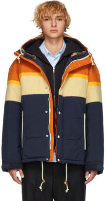 Junya Watanabe Orange and Navy Taffeta Jacket