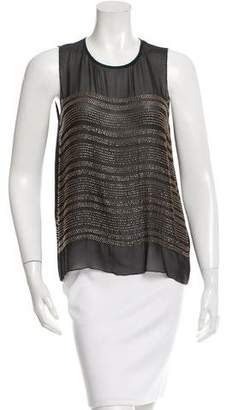 L'Agence Beaded Silk Top