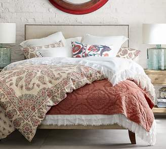 Pottery Barn Fillmore Square Upholstered Bed