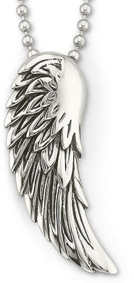 JCPenney FINE JEWELRY Mens Winged Pendant Necklace Stainless Steel