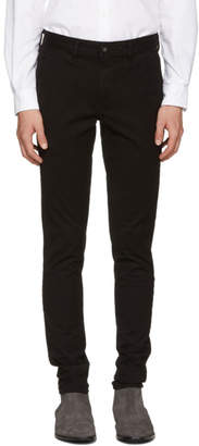 Rag & Bone Black Standard Issue Fit 1 Chino Trousers