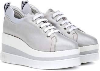 Miu Miu Platform metallic sneakers