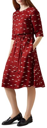 HOBBS LONDON Dorothy Tiered Printed Dress $270 thestylecure.com