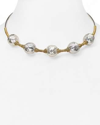 Robert Lee Morris Soho Beaded Wire Wrap Choker Necklace