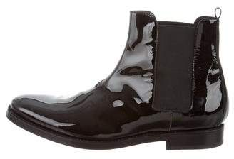 Hermes Patent Leather Chelsea Boots