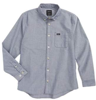 RVCA 'That'll Do' Long Sleeve Oxford Woven Shirt