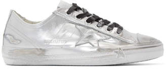 Golden Goose Silver Limited Edition V-Star Ray Sneakers
