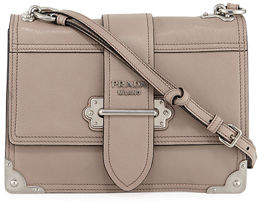 39d5cba259cd Prada Soft Leather Shoulder Bags - ShopStyle