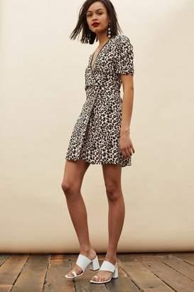 Topshop Petite Leopard Print Mini Wrap Dress