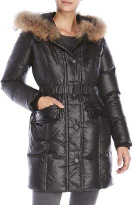 Rudsak Lily Real Fur Trim Down Coat