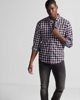 Express Soft Wash Plaid Cotton Shirt
