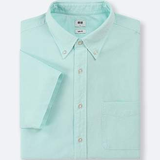 Uniqlo Men's Oxford Slim-fit Short-sleeve Shirt