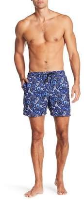 Jared Lang Ocean Print Swim Trunks