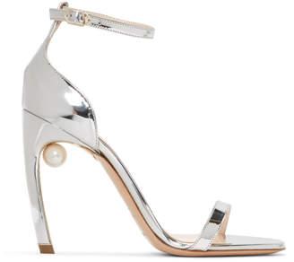 Nicholas Kirkwood Silver Mira Pearl Sandals