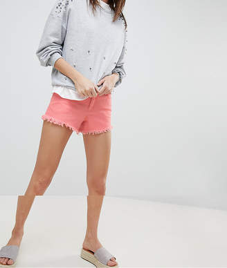 Vero Moda Distressed Frayed Denim Shorts