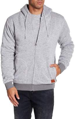 Quiksilver Front Zip Faux Shearling Lined Hoodie