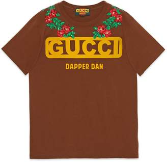 Gucci Oversize T-shirt with logo and tigers