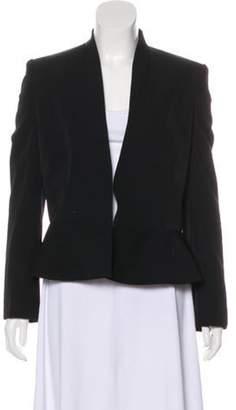 Stella McCartney Wool Peplum-Accented Blazer Black Wool Peplum-Accented Blazer