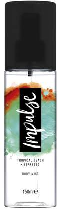 Impulse Body Mist Tropical Beach + Espresso 150ml