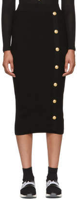 Balmain Black Long Skirt