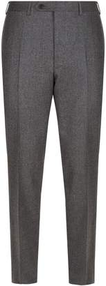 Canali Mini Houndstooth Wool Trousers