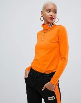 Fila long sleeve high neck t-shirt with logo
