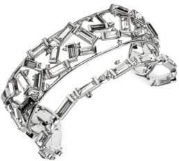 Alexis Bittar Scattered Crystal Baguette Cuff Bracelet