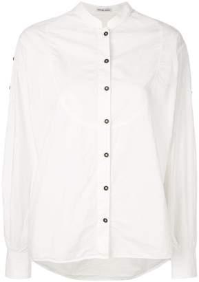 Tomas Maier airy poplin bib blouse