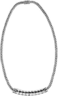 John Hardy Dot Tube Enhancer Chain Necklace