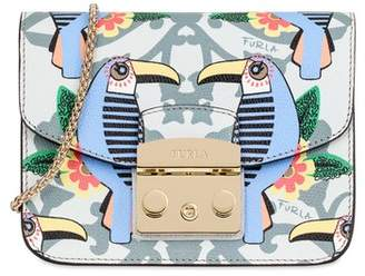 Furla Mini Metropolis Print Leather Crossbody Bag