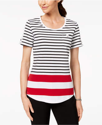 Karen Scott Striped T-Shirt, Created for Macy's