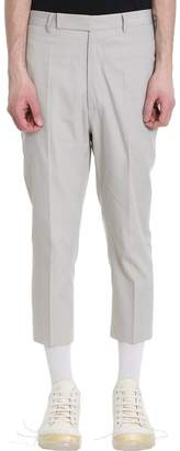 Rick Owens Astaired Cropped Milk Cotton Pants