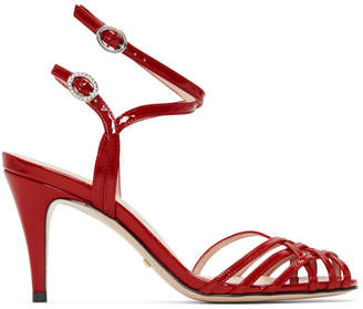 Gucci Red Draconia Sandals