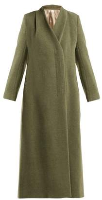 The Row Nalty Double Breasted Wool Blend Coat - Womens - Green